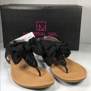 [177] Material Girl 8 M Swan Flat Thong Sandals 8